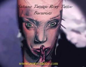 Salon tatuaje bucuresti, saloane tatuaje Bucuresti, portret femeie tatuaje salon bucuresti