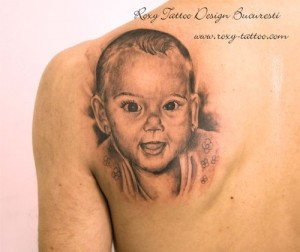 portret copil tatuaje salon roxytattoo design bucuresti piercing