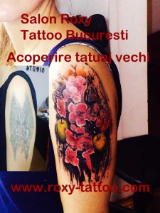 acoperire tatuaje vechi salon tatuaje bucuresti roxy tattoo