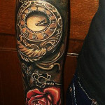 ceas brat trandafir modele tatuaje roxy tattoo salon