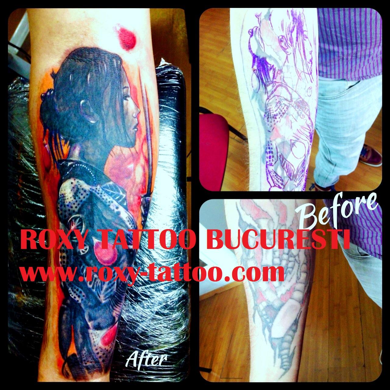 acoperire tatuaje vechi mana