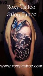 craniu modele de tatuaje brat roxy