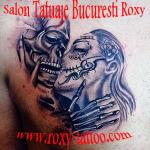 modele de tatuaje femei barbat craniu