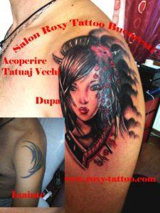 acoperire tatuaj vechi gheisha