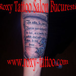 scris papirus tatauje mana