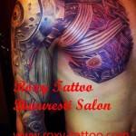 modele tatuaje biomecanice piept abdomen mana