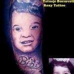 modele tatuaje portret copil mana fata